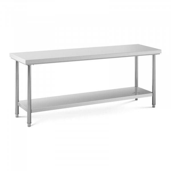 Table de travail inox - 200 x 60 cm - Capacité de 160 kg