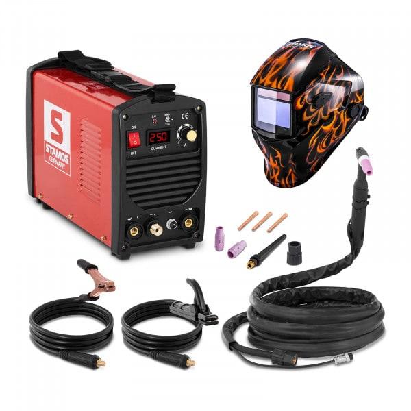 Set d'équipement de soudage Poste à souder TIG - 250A - 230V - portatif + Masque de soudure –Firestarter 500 – ADVANCED SERIES