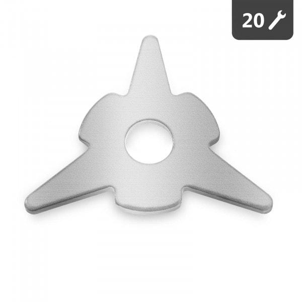 Rondelles triangulaires - 20 pièces