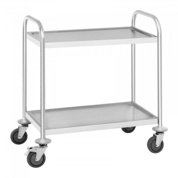 Chariot de service - 2 étagères - jusqu' à 150 kg