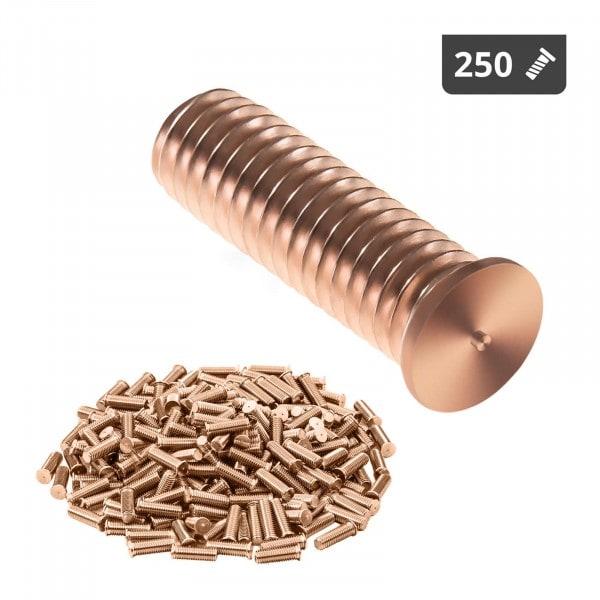 Goujons de soudage - M6 - 20 mm - Acier - 250 pièces