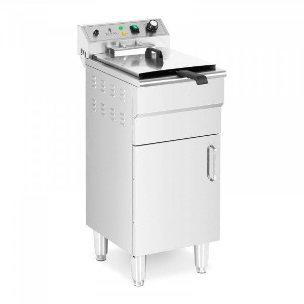 Friteuse électrique - 13l - 5000 W - Robinet de vidange - Zone froide - Sur armoire