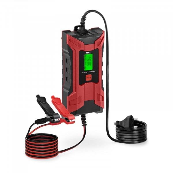 Chargeur de batterie de voiture - 6/12 V - 2/4 A - Afficheur LCD