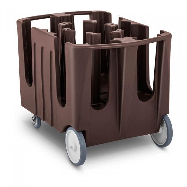 Chariot porte-assiettes - 400 assiettes max. - Ø 12 - 33 cm - 8 compartiments