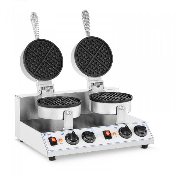 Gaufrier double - Rond - 2 600 W