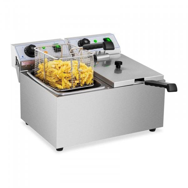 Friteuse électrique - 2 x 8 litres - 230 volts