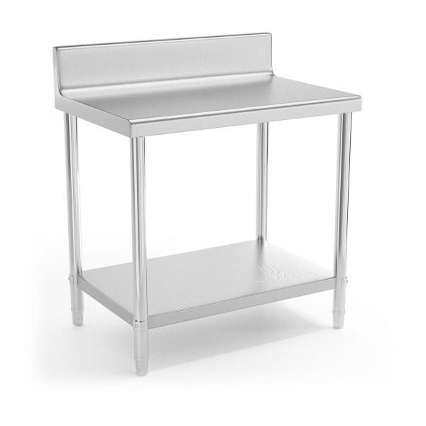 Table de travail en inox - 90 x 60 cm - Avec rebord - Capacité de charge de 210 kg