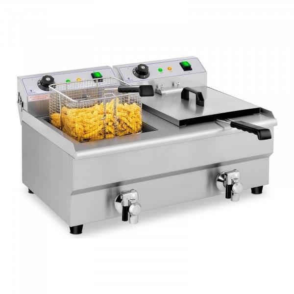 Friteuse électrique - 2 x 13 litres - Robinets de vidange