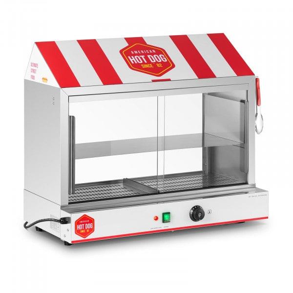 Cuiseur à vapeur pour hot dogs - 300 saucisses - 100 pains - 2 400 W