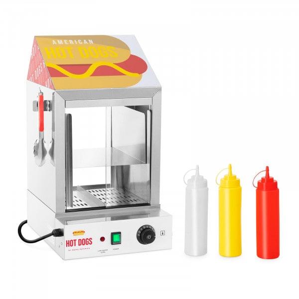 Cuiseur à vapeur pour hot dogs - 100 saucisses - 25 pains - 1 000 W