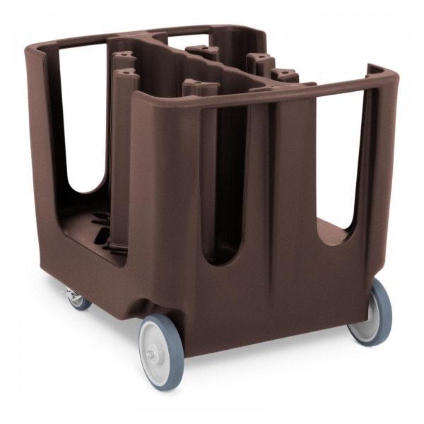 Chariot porte-assiettes - 300 assiettes max. - Ø 12 - 33 cm - 6 compartiments ajustables