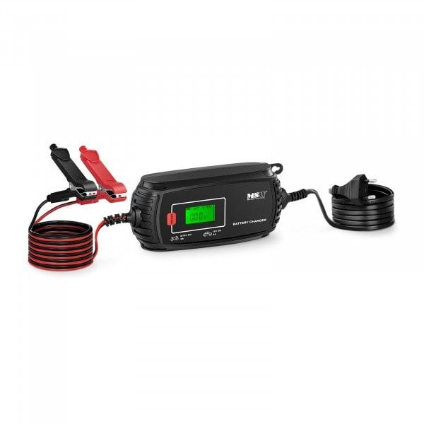 Chargeur de batterie de voiture - 6/12 V - 2/4 A - 4 modes de charge