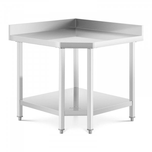 Table de travail en angle inox - 90 x 70 cm - Capacité de 300 kg