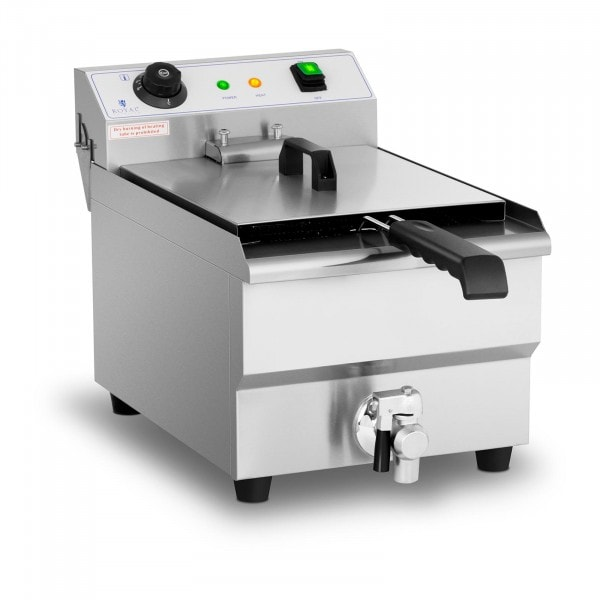Friteuse électrique - 13 litres - 3 200 watts - Robinet de vidange - Zone froide