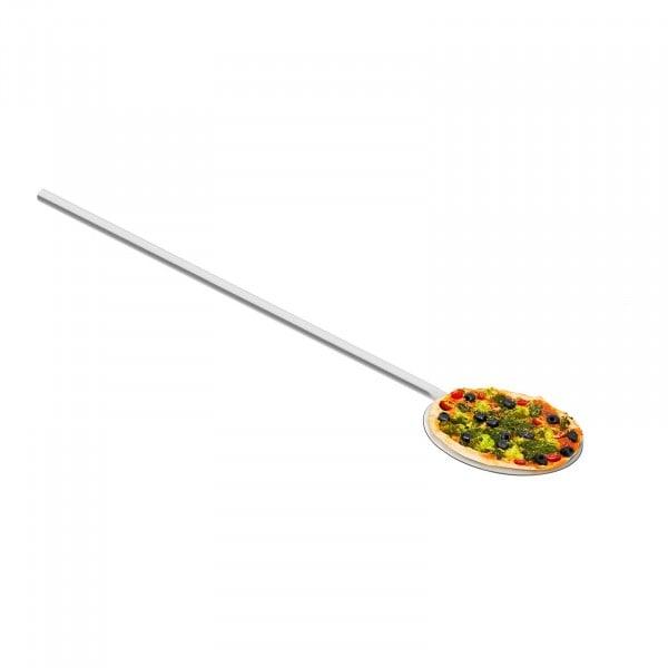 Pelle à pizza inox - 100 cm de long - 20 cm de diamètre