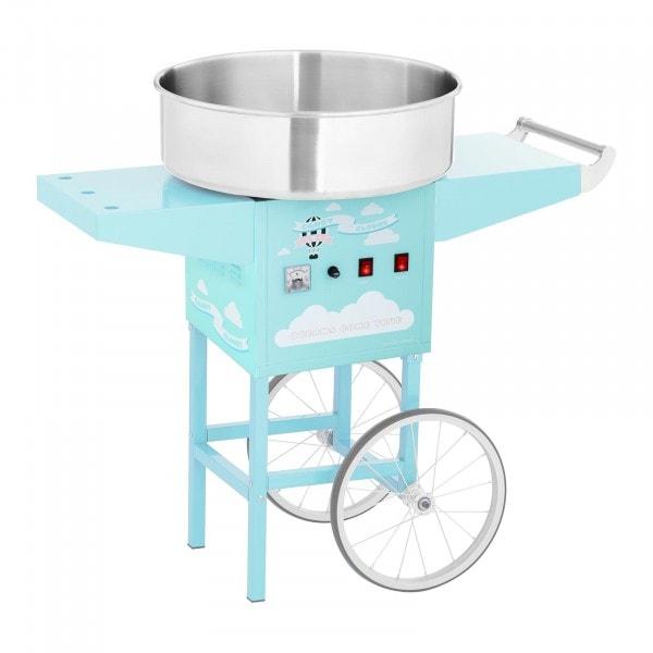 Machine à barbe à papa avec chariot - 52 cm - 1200 W - turquoise