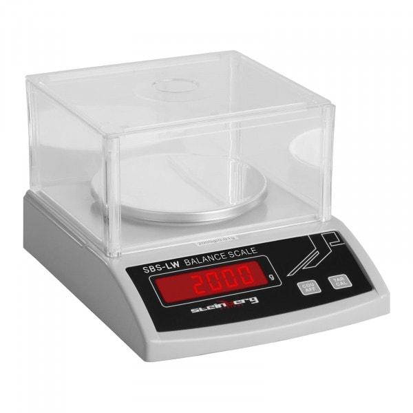 Balance de précision - 2 000 g / 0,01 mg - blanche