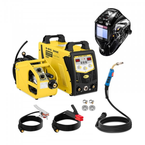 Set d'équipement de soudage Poste à souder MIG/MAG - 350A - 400V + Masque de soudure – Metalator– EXPERT SERIES