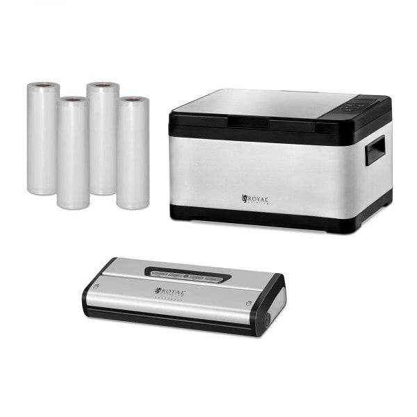 Kit de cuisson sous-vide - machine sous vide et rouleaux sous vide inclus - 8 L