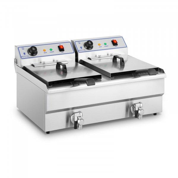 Friteuse électrique - 2 x 16 litres - 400 volts