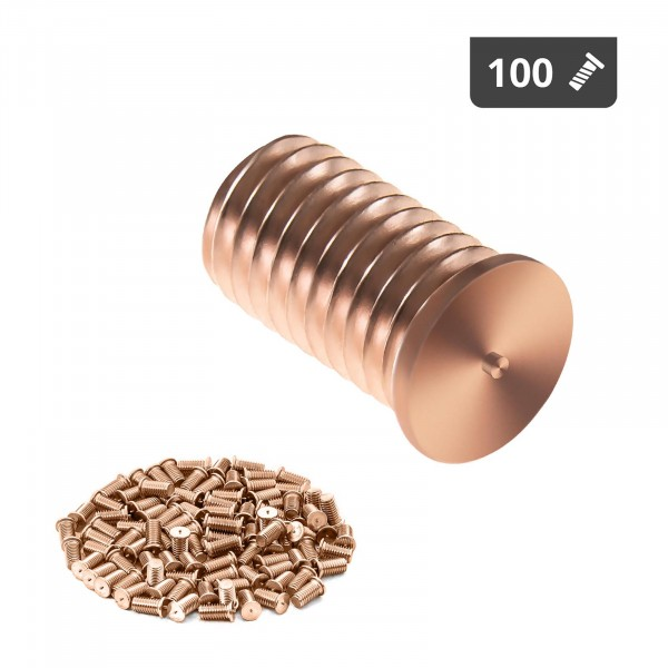Goujons de soudage - M8 - 15 mm - Acier - 100 pièces