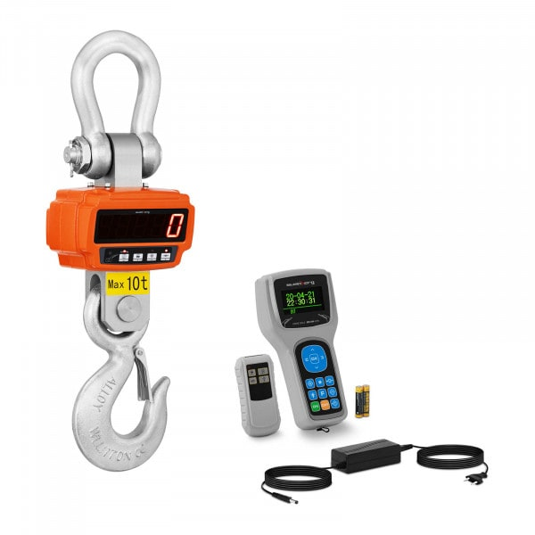 Crochet-peseur - 10 t / 2 kg - Télécommande avec écran