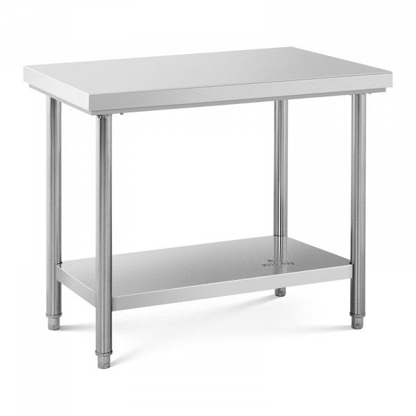 Table de travail inox - 100 x 60 cm - Capacité de 114 kg