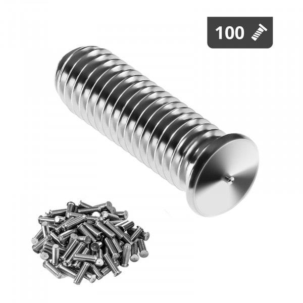 Goujons de soudage - M5 - 15 mm - Acier inoxydable - 100 pièces