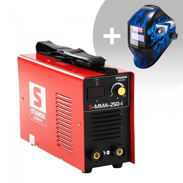 Set d'équipement de soudage Poste à souder à l'arc - 250A - 230V - IGBT + Masque de soudure – Sub Zero – EASY SERIES