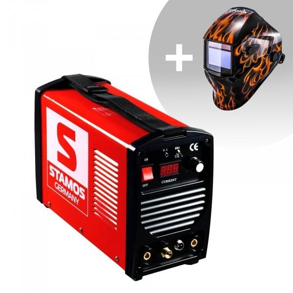 Set d'équipement de soudage Poste à souder TIG - 200A - 230V - portatif + Masque de soudure –Firestarter 500 – ADVANCED SERIES