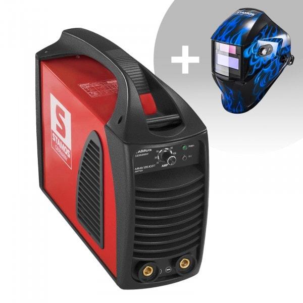 Set d'équipement de soudage Poste à souder à l'arc - 120A - Hot Start - IGBT + Masque de soudure – Sub Zero – EASY SERIES