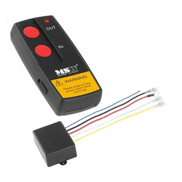 Télécommande sans fil MSW-WR4 pour treuil électrique - 12 V - Portée de 30 m