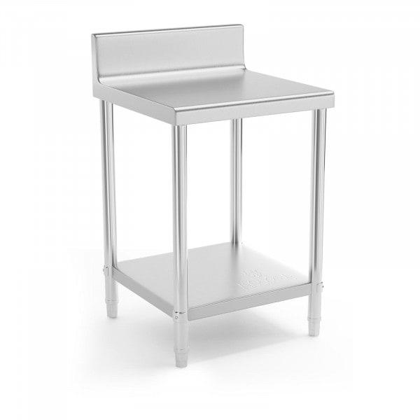 Table de travail en inox - 60 x 60 cm - Avec rebord - Capacité de charge de 150 kg