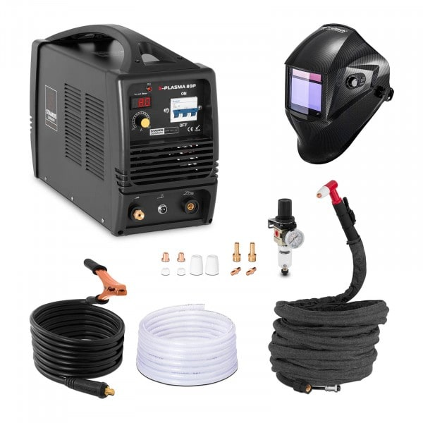 Set d'équipement de soudage Découpeur plasma - 80A - 400V + Masque de soudure – Carbonic – PROFESSIONAL SERIES