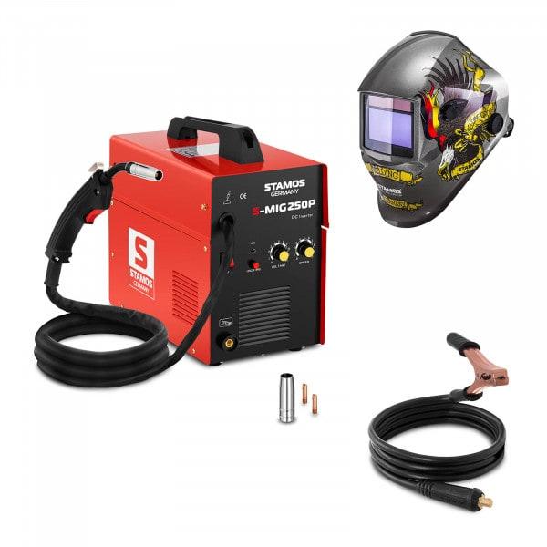 Set d'équipement de soudage Poste à souder MIG/MAG - 250A - 230V - portatif + Masque de soudure - Eagle Eye - ADVANCED SERIES