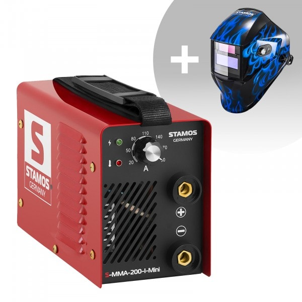 Set d'équipement de soudage Poste à souder à l'arc - 200A - 230V - IGBT + Masque de soudure - Sub Zero - EASY SERIES