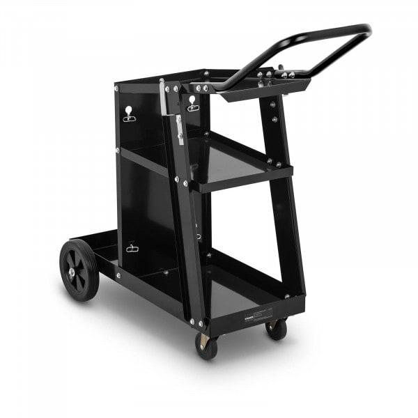 Chariot poste à souder avec poignée - 3 étagères - 80 kg
