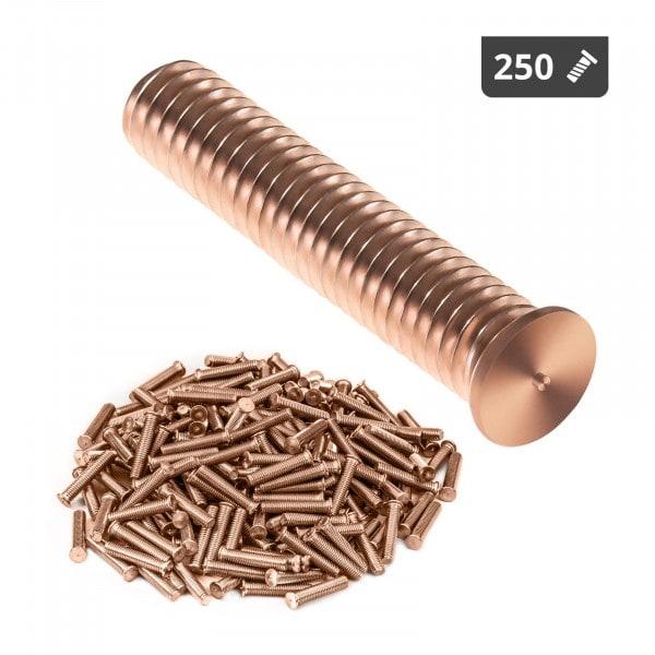 Goujons de soudage - M6 - 30 mm - Acier - 250 pièces