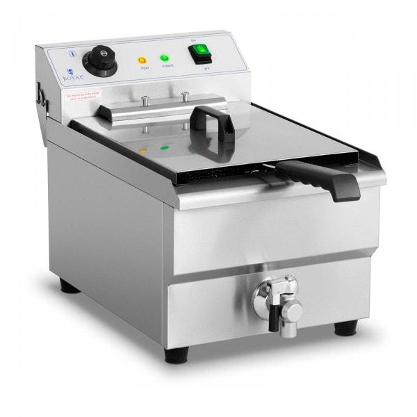 Friteuse électrique - 16 litres - 6 000 watts - Robinet de vidange - Zone froide