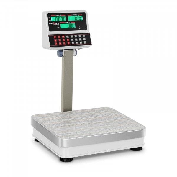 Balance poids-prix blanche - 100kg/10g - LCD
