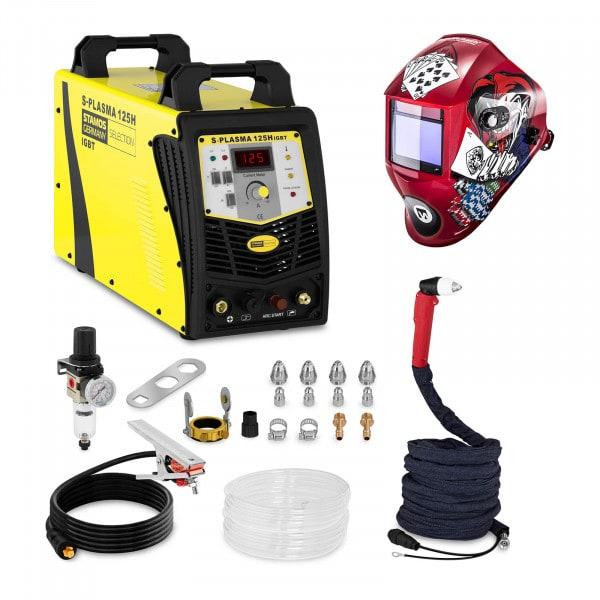 Set d'équipement de soudage Découpeur plasma - 125A - 400V + Masque de soudure – Pokerface – PROFESSIONAL SERIES