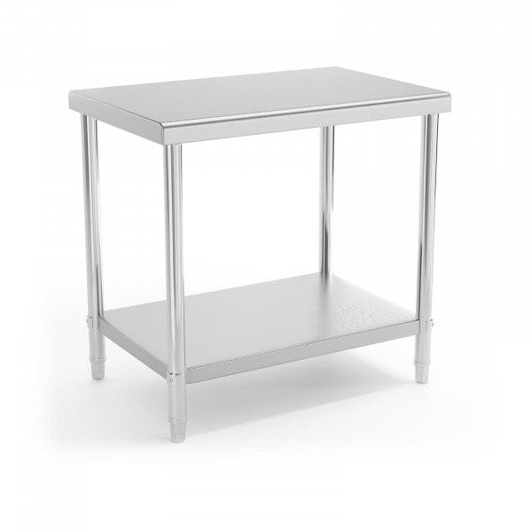 Table de travail en inox - 90 x 60 cm - Capacité de charge de 210 kg