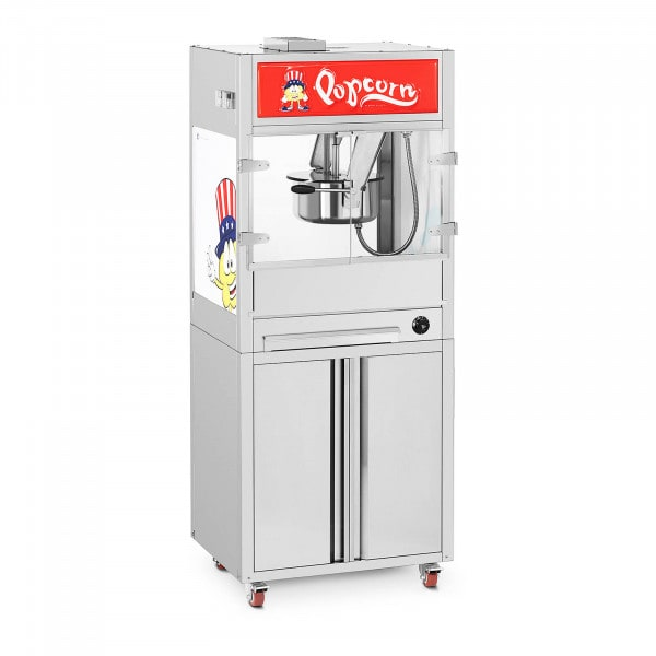 Machine à popcorn - Avec armoire sur roulettes - Royal Catering - Moyenne