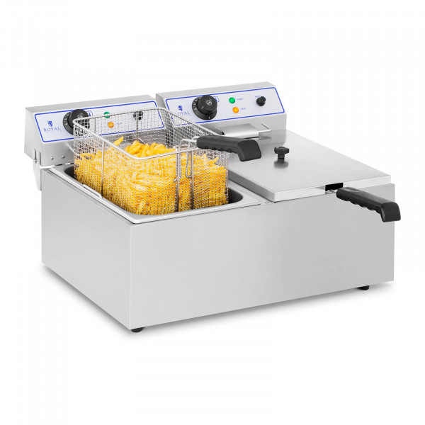 Friteuse électrique - 2 x 17 l - Appropriée pour le poisson