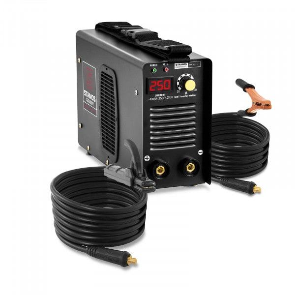 Elektrodenschweißgerät - 250 A - 8 m Kabel - Hot Start - PRO