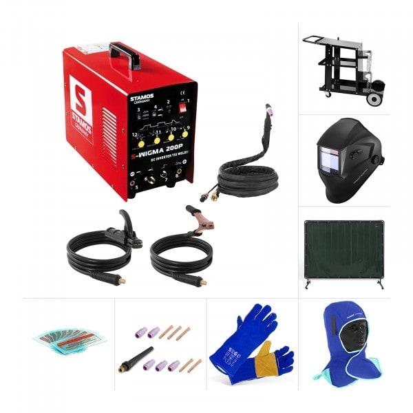 Poste à souder TIG - Kit - Chariot à souder - Vêtements de protection - Accessoires