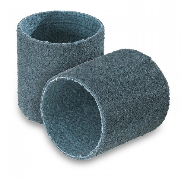 Lot de 2 bandes abrasives - nylon non-tissé - Granulation fine