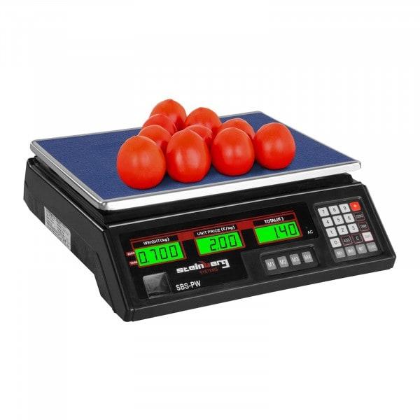 Balance poids-prix - 35 kg / 2 g - noire - LCD