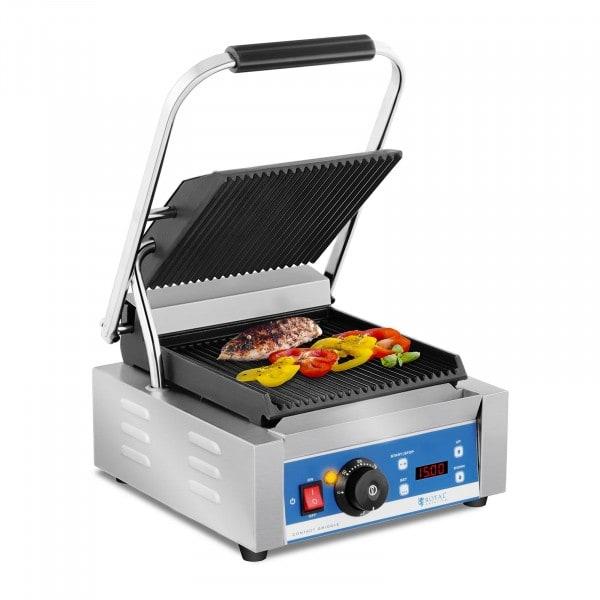 Machine à panini - striée - minuterie - 1800 W