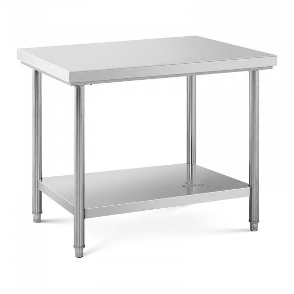 Table de travail inox - 100 x 70 cm - Capacité de 120 kg